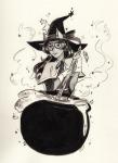 dogtier grayscale halloweenstuck hat jacky jade_harley solo witch