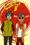 bloodtier bromance casual fashion glasses_added headphones no_glasses sick_firewalls sollux_captor tavros_nitram