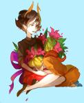 artist_collaboration darky flowers gash_sash godtier head_on_lap kanaya_maryam kneeling noahh redrom rose_lalonde rosemary seer shipping