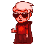 dave_strider godtier knight pixel solo supajackle thumbs_up time_aspect transparent