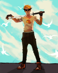 casentine clouds dirk_strider seagulls solo unbreakable_katana weapon