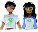 aspect_symbol breath_aspect jade_harley john_egbert siblings:johnjade space_aspect starter_outfit striderswag