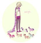 applejack crossover my_little_pony pinkie_pie ponies rainbow_dash rarity roxy_lalonde shaburdies twilight_sparkle