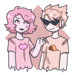 diamond dirk_strider drawthiere headshot limited_palette neorails palerom roxy_lalonde shipping starter_outfit transparent
