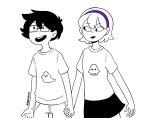grimdorks holding_hands honey_cnpai john_egbert rose_lalonde starter_outfit twitter