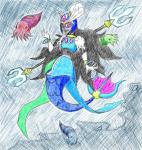 crossover cuttlefish darlos9d feferi_peixes mega_man merfolk solo underwater