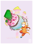 chibi godtier kiwiuccu land_of_light_and_rain light_aspect rose_lalonde seer solo