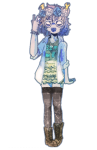 aranea_serket b0ychan casual dancestors dream_ghost fashion flower_crown flowers pastel_goth request solo transparent