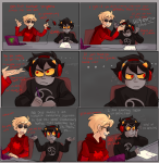 comic computer dave_strider godtier headphones karkat_vantas knight ryu-gemini text time_aspect