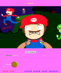 crossover crown mario nintendo parody pastiche spiral_sucker text the_finger trickster_mode wakraya