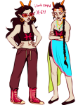 arms_crossed clothingswap dancestors dream_ghost feferi_peixes meenah_peixes no_glasses partyroxy peixeses text