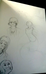 art_dump caliborn denizens echidna kirby niko nintendo sketch yaldabaoth