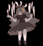 aradia_megido dead_aradia ghosts midair sleepcluster solo transparent