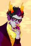eridan_ampora fashion headshot reaill smoking solo