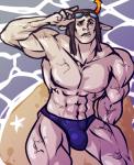 equius_zahhak musclestuck no_shirt rlyrlybigman solo swimsuit