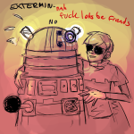 crossover dave_strider doctor_who godtier insecureillustrator knight