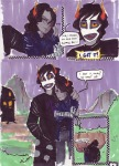 arm_around_shoulder artificial_limb comic crying gamzee_makara juggalovania nix-entente palerom shipping vriska_serket