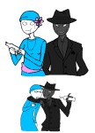 20sstuck alcohol arijandro arm_around_shoulder au blackrom fashion flowers jack_noir paper_knife parcel_mistress pm shipping spade spades_slick sweat