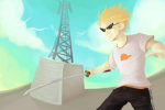 clouds dirk_strider seagulls solo starter_outfit stewna unbreakable_katana
