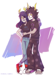 arm_around_shoulder artificial_limb gamzee_makara hug ikimaru juggalovania redrom request shipping vriska_serket