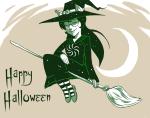 broom dogtier godtier halloweenstuck jade_harley midair planetofjunk solo space_aspect witch wizard_hat