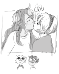 beta_kids dave_strider grayscale guns_and_roses heart jade_harley john_egbert kiss no_glasses private_source red_baseball_tee redrom request rose_lalonde shipping yt