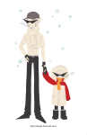 bro dave_strider holding_hands kang0-0a size_difference winter