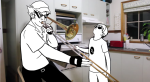 bro dave_strider highlight_color humunanunga image_manipulation instrument meme starter_outfit when_mama_isn't_home