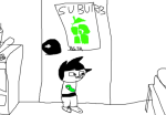 cool_and_new_web_comic fanadventure_art john_egbert koala_tea page_one sburb_logo solo