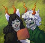 blood_sisters callie_ohpeee calliope dogtier dream_ghost godtier jade's_trollsona jade_harley secretarybird witch