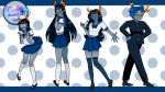 aranea_serket ardata_carmia blush crossdressing crossover dancestors doki_doki_literature_club dream_ghost elwurd eridan-amporna hiveswap sailor_fuku school_uniform serkets vriska_serket