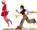 dancestors dreamself meenah_peixes midair partyroxy psidon's_trident roxy_lalonde sleeping
