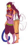 aboutascoolasfrenchtoast dogtail dogtier hug jade_harley nepeta_leijon no_hat olive_garden shipping