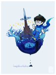 breath_aspect chibi godtier heir john_egbert kiwiuccu land_of_wind_and_shade solo typheus