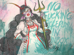 ancestors au blood her_imperious_condescension melanievimpula nsfwsource psidon's_trident solo text weapon