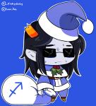 equius_zahhak fate fate_extra holidaystuck kinkydirky meme michelle_egbert parody solo sweat zodiac_symbol