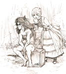crossover grayscale guns_and_roses jade_harley r-uoi redrom rose_lalonde shipping tarzan