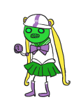 clothingswap crossdressing crossover egg_timer eggs felt parody sailor_moon scribblestuck-tata solo
