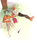 book dave_strider headphones karkat_vantas no_glasses red_knight_district redrom shipping sleeping sollay-b