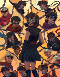 all_kids alpha_kids aranea_serket bard beta_kids blindfold blood breath_aspect crocker_corruption damara_megido dancestors dave_strider dirk_strider dogtier dream_ghost gamzee_makara godtier grimbark head_out_of_frame heart_aspect heir hope_aspect jade_harley jake_english jane_crocker john_egbert kanaya_maryam karkat_vantas knight life_aspect light_aspect maid meenah_peixes meruz mindfang_dress multiple_personas page prince rage_aspect rogue rose_lalonde roxy_lalonde seer space_aspect terezi_pyrope time_aspect void_aspect vriska_serket web witch