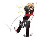 ! dave_strider hug karkat_vantas kiss red_baseball_tee red_knight_district redrom ryu-gemini shipping