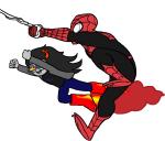 crossover marvel rocket_boots skellyanon spider-man vriska_serket