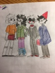 arm_in_arm beta_kids cosplay dave_strider halloweenstuck jade_harley john_egbert over_the_garden_wall pencil pumpkincravings rose_lalonde saw scooby-doo scott_pilgrim