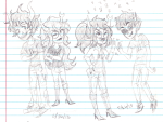 alternate_hair citrinne double_trouble gamzee_makara grayscale juggalovania redrom shipping sketch sollux_captor vriska_serket