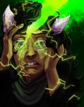dogtier godtier green_sun headshot jade_harley ohgodwhat skarita solo space_aspect witch