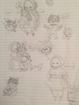 :o) agpicklefeet art_dump au babies carrying faygo gamzee_makara heart honk ms_paint pencil stabdads word_balloon