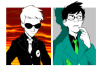 dave_strider four_aces_suited headshot john_egbert sdkay wise_guy_slime_suit