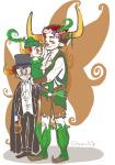 ancestors babies carrying charliedzilla cosplay crossover dancestors flower_crown flowers food freckles halloweenstuck nitrams peter_pan pupa_pan rufioh_nitram sailor_moon tavros_nitram the_summoner
