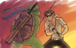 blackrom bro business-turtle crossover shipping spade strife teenage_mutant_ninja_turtles unbreakable_katana