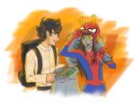 catw1ngs crossover food ghostbusters halloweenstuck john_egbert marvel no_glasses spider-man vriska_serket